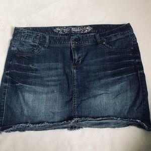 Express jean skirt